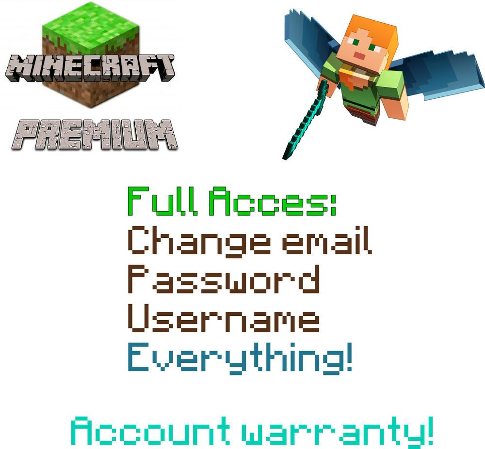 Minecraft Premium Account | Java Edition | Full Access + Windows 10