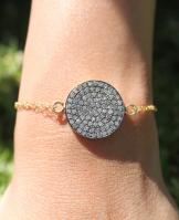 20mm Diamond Disc Bracelet  www.braceyourselfla.com