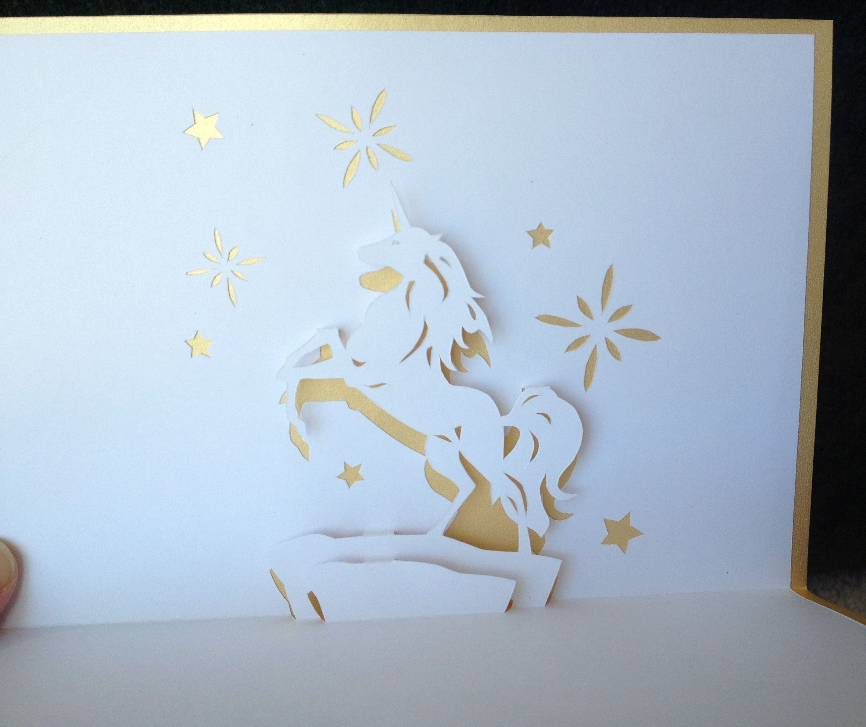 Unicorn Pop Up Card Unicorn Birthday Cards Pop Up Greeting Cards Pop Up Box Cards