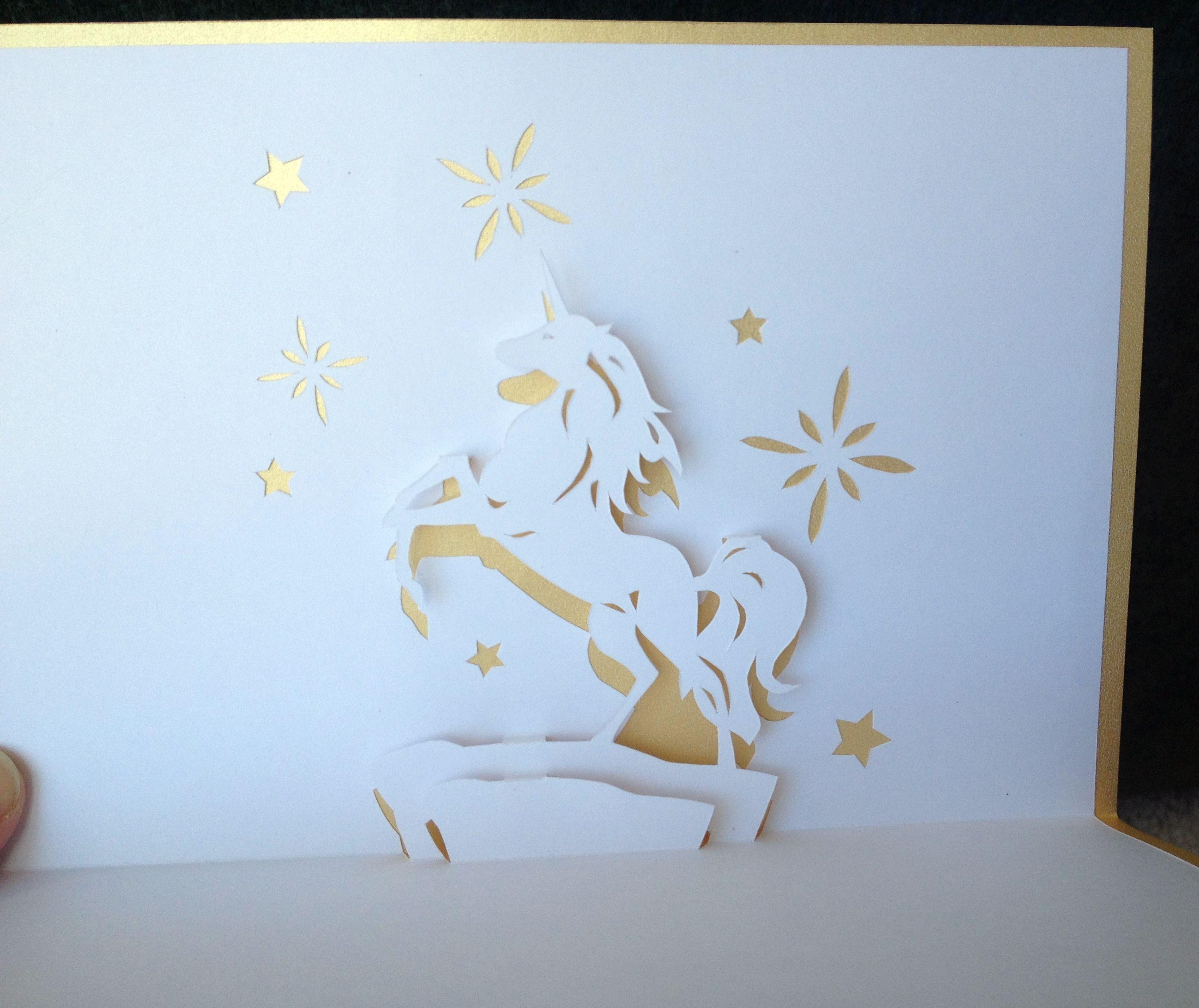 Unicorn Pop Up Card Nana Cards Pinterest Unicorns