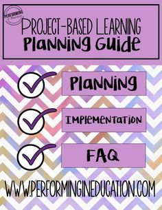 Free project-based learning planning guide! Learn how to plan great PBL for your classroom this year!