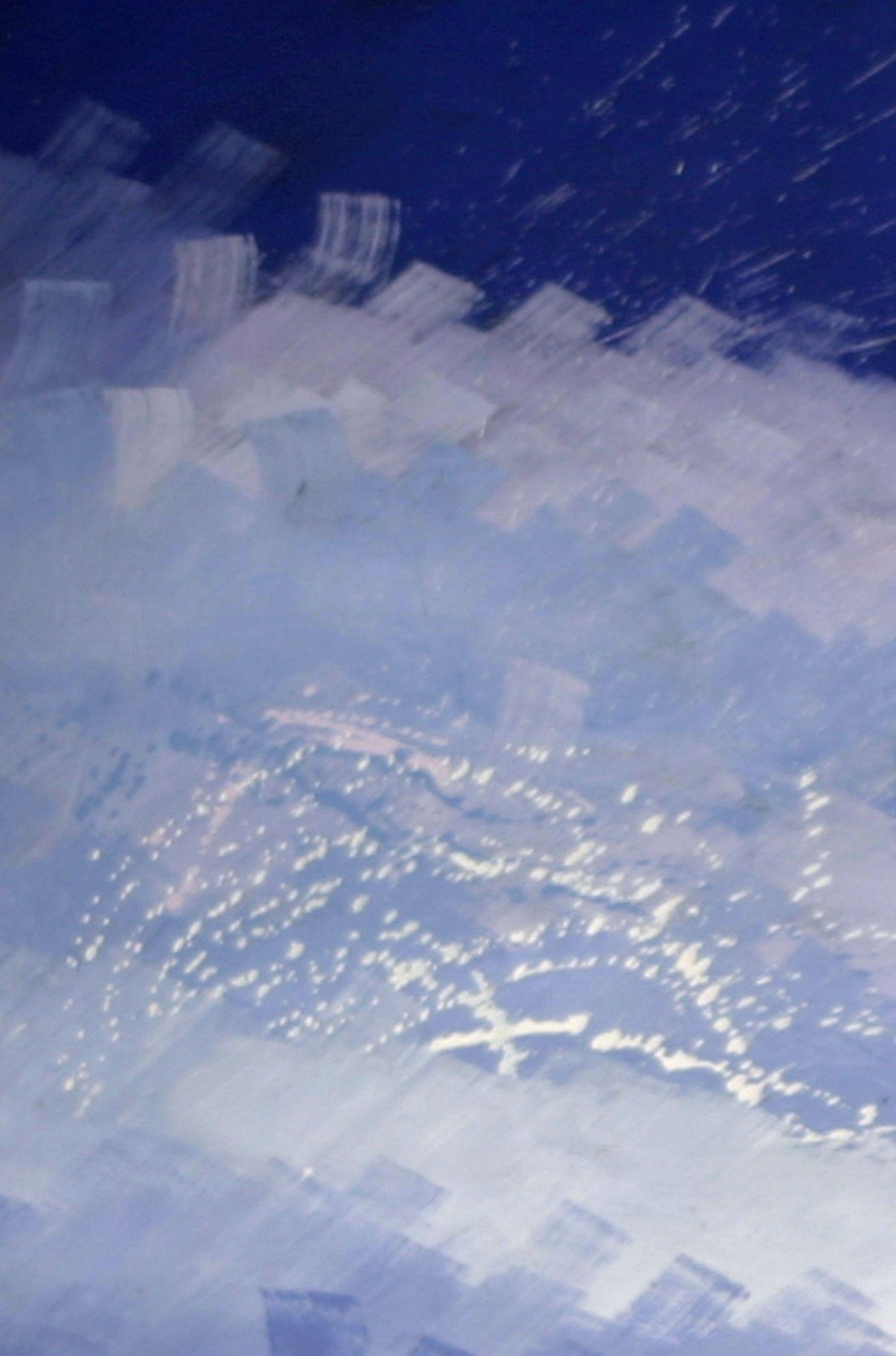 """pintura realizada en acrílico sobre lienzo, serie """"Cielos, Ríos y Mares"""""""