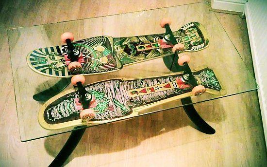 funky skateboard coffee table | home decor | pinterest