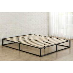 10 Inch Low Profile Metal Platform Bed Frame With Wood Slats