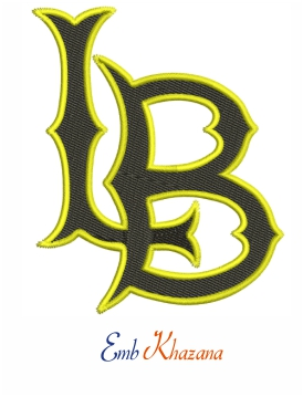 Long Beach State 49ers Logo embroidery design, Long Beach