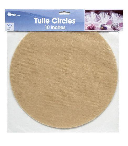 "10"" Tulle Circles - Fuschia"