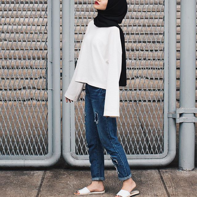 Casual Wear Ootd Hijab Simple