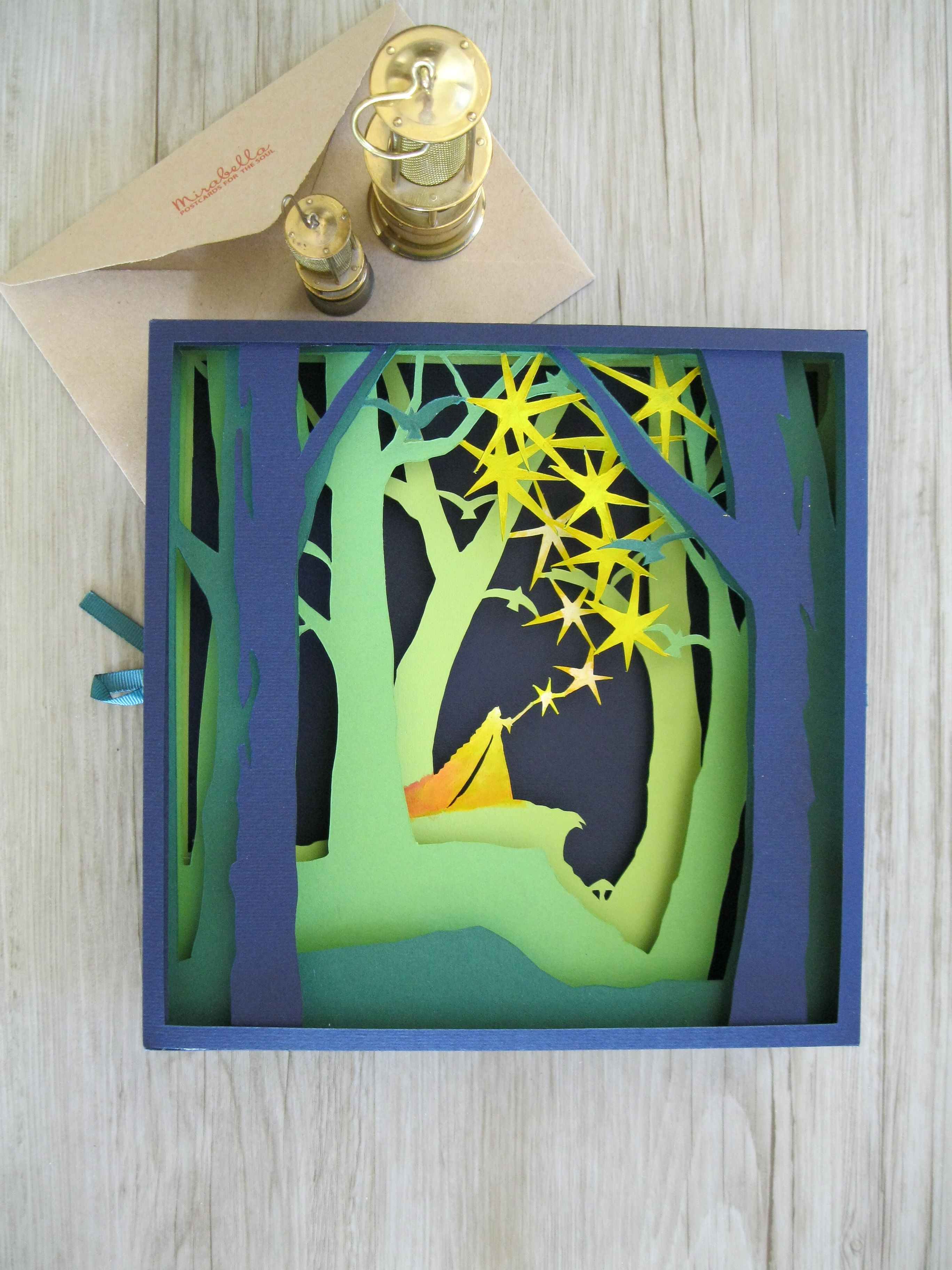 Greeting card picture believe in magic 3d paper cut paper greeting card picture believe in magic 3d paper cut paper volume kristyandbryce Gallery