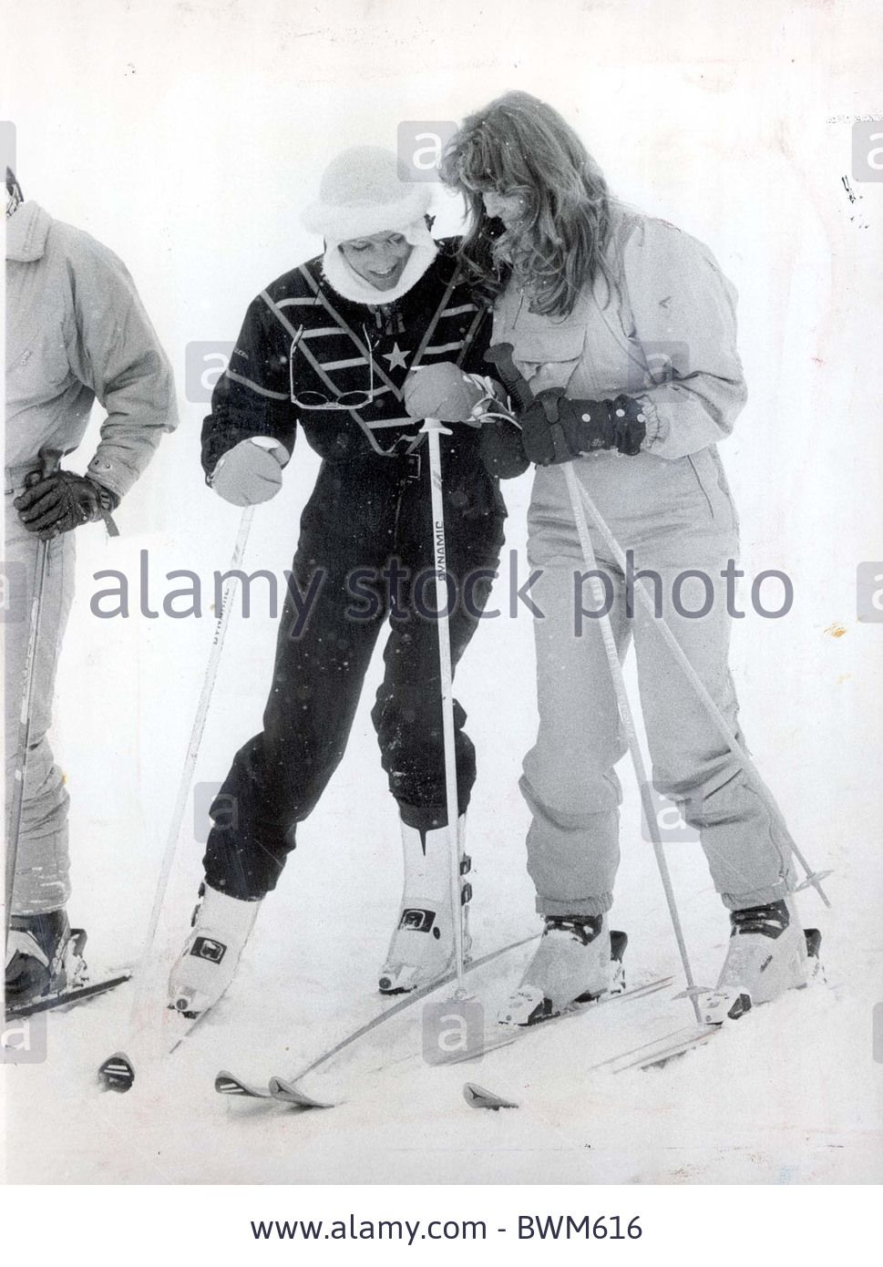 February 17, 1987: Princess Diana and Sarah, the Duchess of York during a photocall in Klosters, Switzerland.