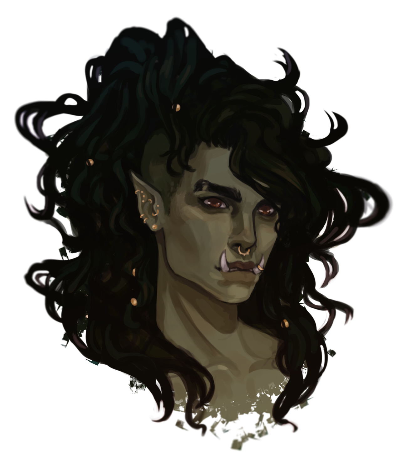 half-orc character art recent commission #characterart half-orc character art recent commission #characterart