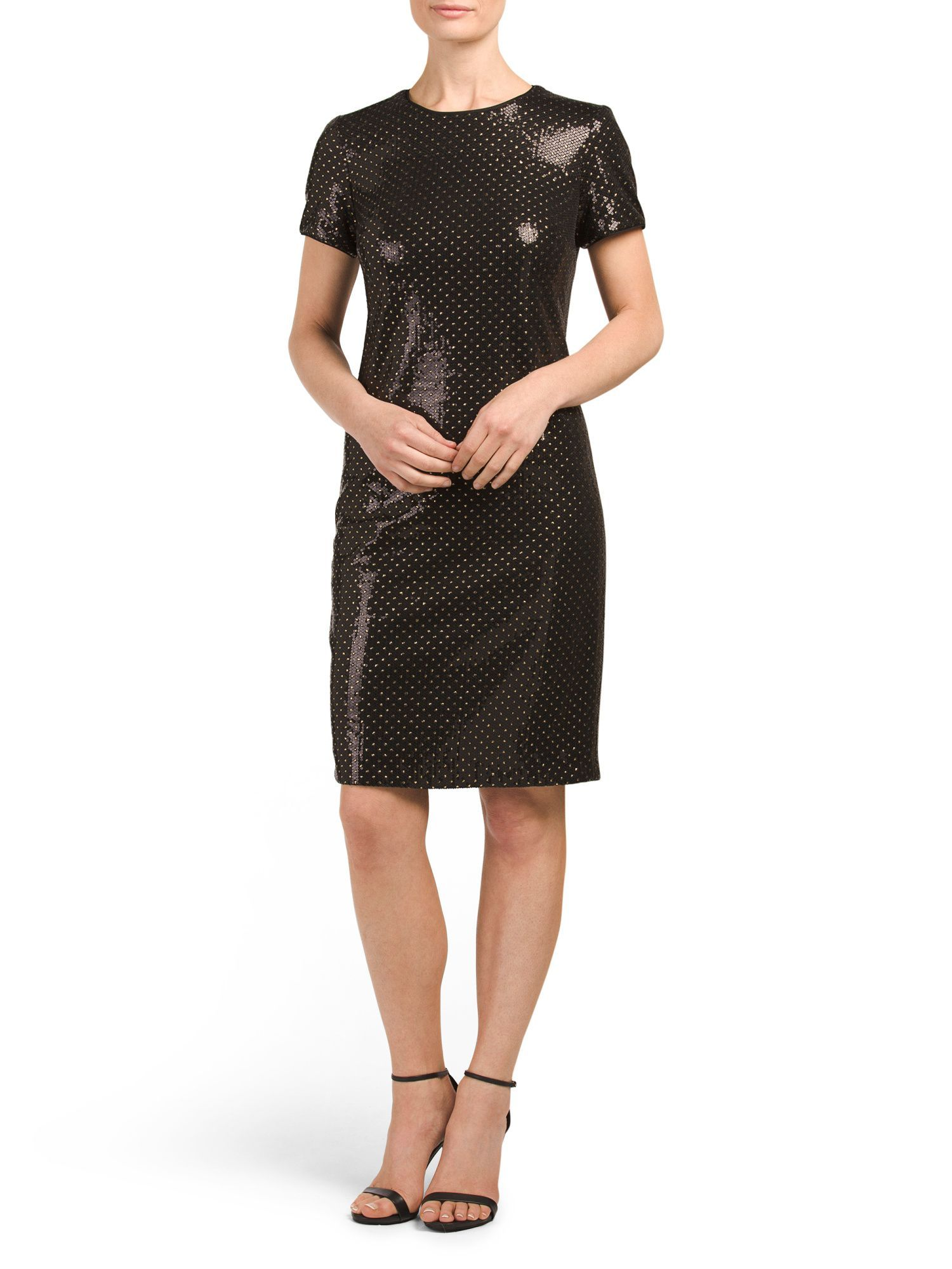 Cap sleeve all over sequin dress products pinterest products