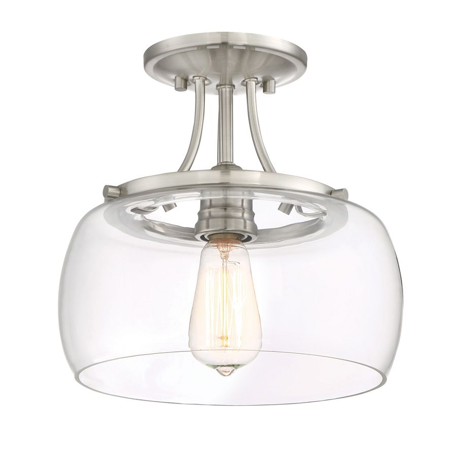 Quoizel soho 1062 in w brushed nickel clear glass semi flush mount quoizel soho 1062 in w brushed nickel clear glass semi flush mount light aloadofball Gallery