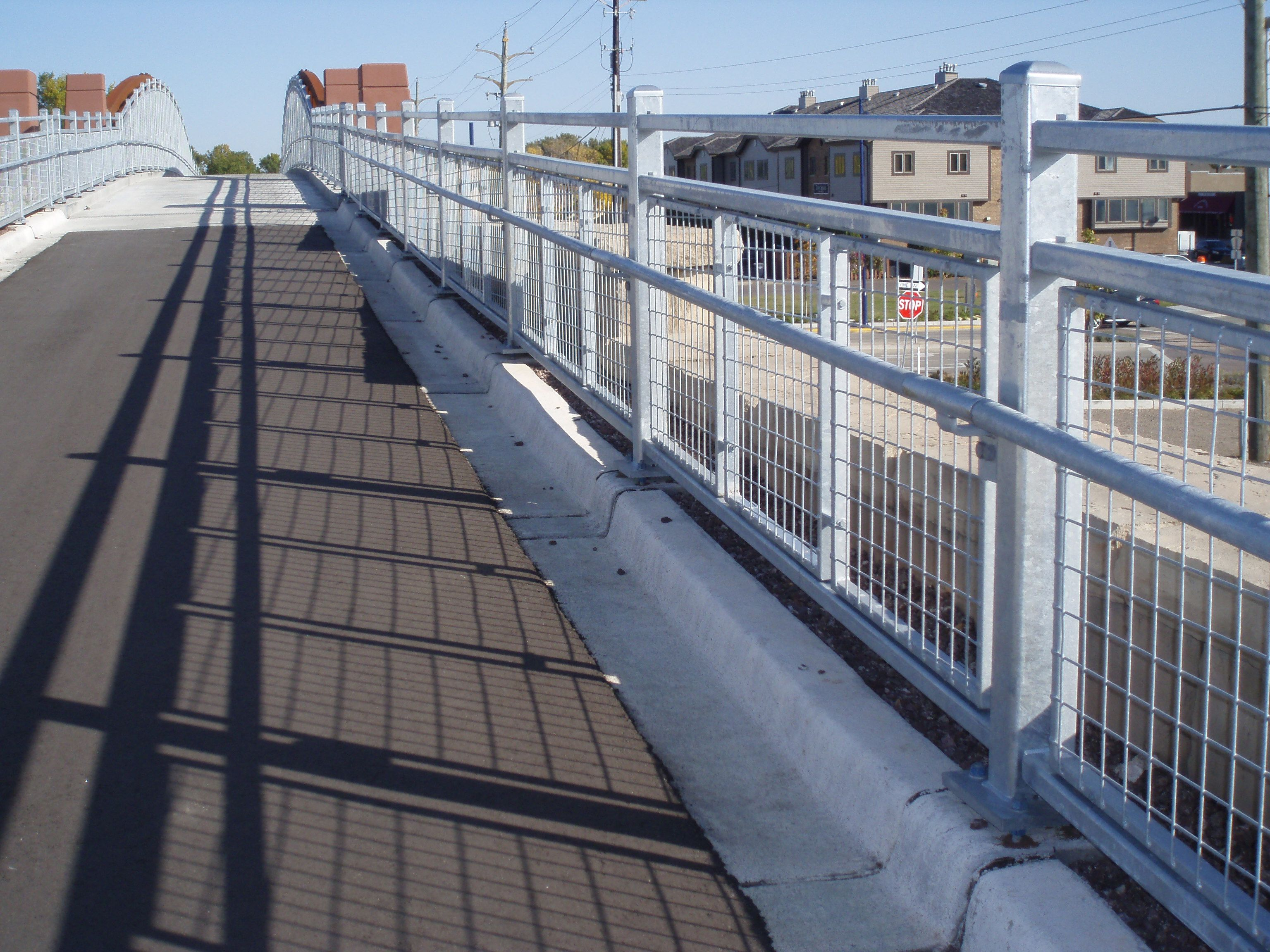 Galvanized steel railing on a pedestrian bridge By Astro ...