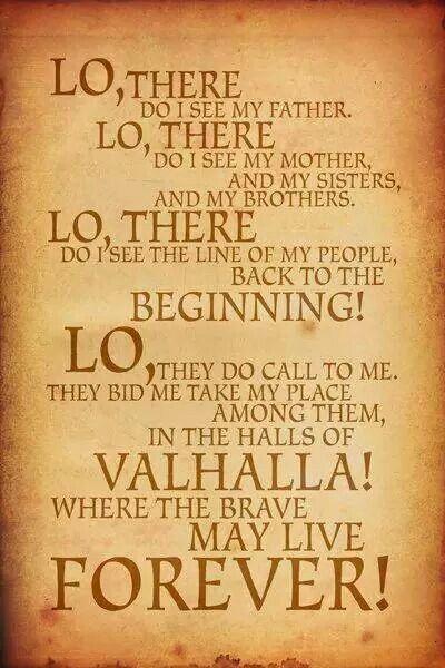 Valhalla Vikingscelticmedieval Frases Mitología Y Vikingos