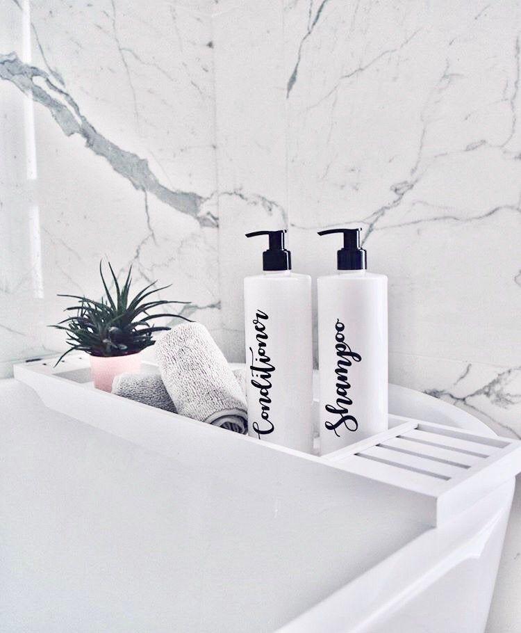 Mrs Hinch Pump Bottles Reusable Labelled Pump Soap Dispenser Bottle Bathroom Storage Toiletries Plastic Black Bottle Set Grey Silver White In 2020 Soap Dispenser Bottle Plastic Storage