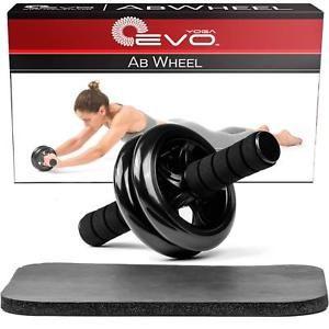 yoga evo ab roller wheel trainer  knee pad  hand gripper