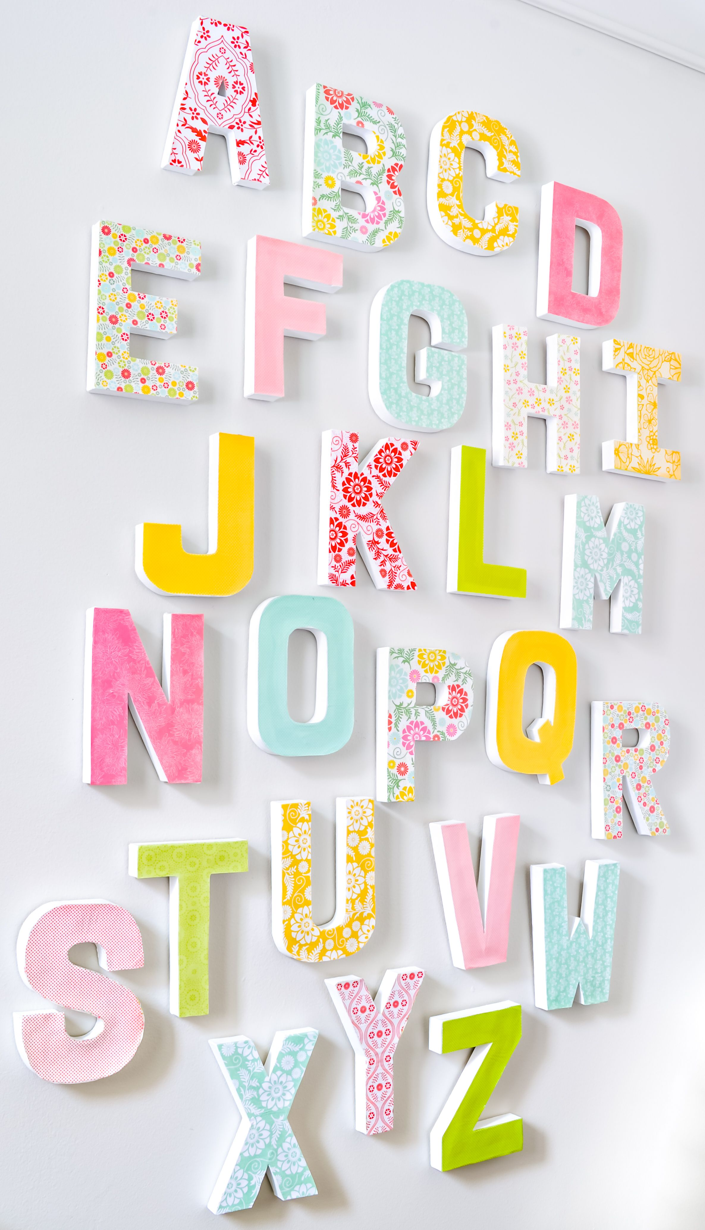 Diy Wall Letters Letter A Crafts Cardboard Letters
