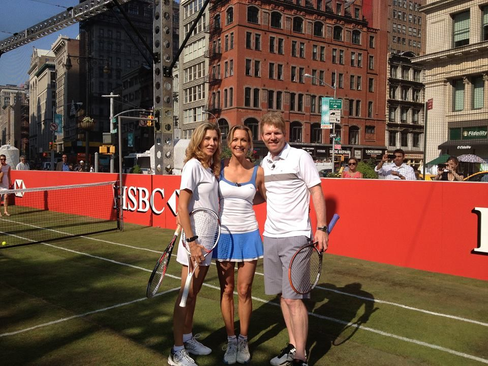 I got to play tennis with Jim Courier and Monica Seles
