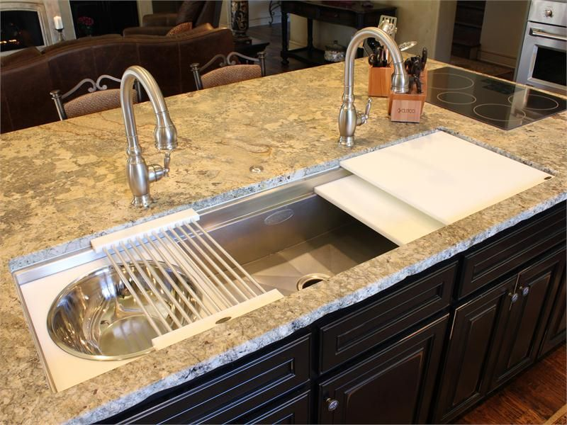This Galley Kitchen Sink Is 60 Inches Long And Requires 2 Faucets