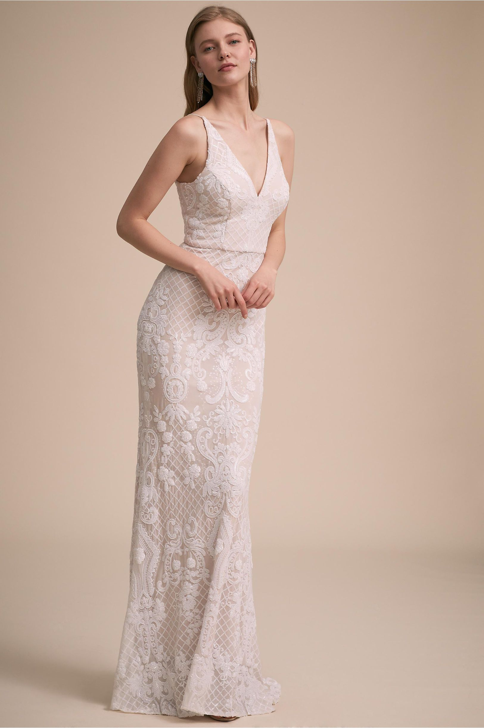 Antique cream wedding dress  BHLDNus Jennings Dress in Ivory  Products  Pinterest  Wedding