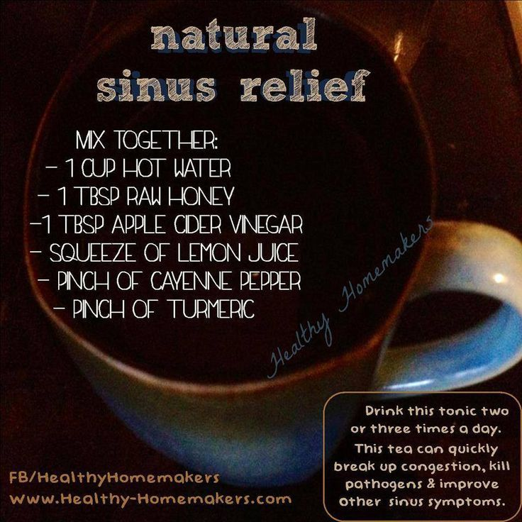 A hot cup of healthy for fighting sinus problems and