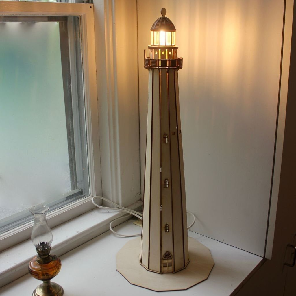 Lighthouse Lamp This Cnc Files Dxf Cdr Svg Dxf Files For Etsy In 2020 Lighthouse Lamp Lamp House Lamp