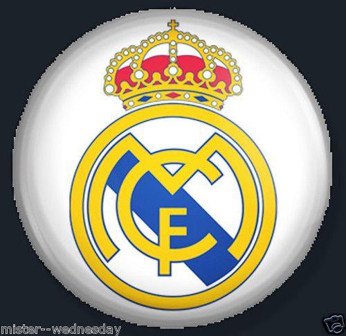 Logo PIN Button Real Madrid Soccer Football Badge Emblem