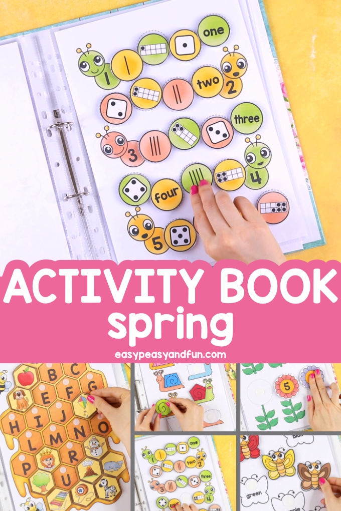 Printable Spring Quiet Book - Activity Book for Pre-K and K