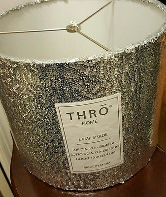 Marlo Lorenz Thro Silver Sequin Sparkling Elegant Shabby Chic Lamp Shade S New Shabby Chic Lamp Shades Lamp Antique Lamp Shades