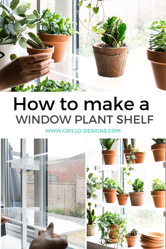 DIY Floating Window Plant Shelf Tutorial • Grillo Designs #diyplantstand