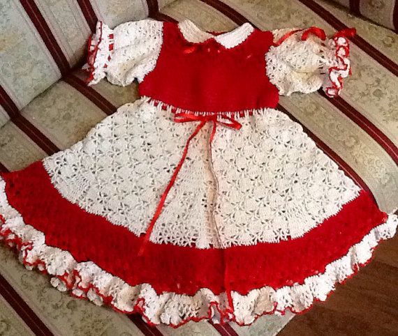 Your Place To Buy And Sell All Things Handmade White Christmas Dress Crochet Baby Clothes Christmas Dress