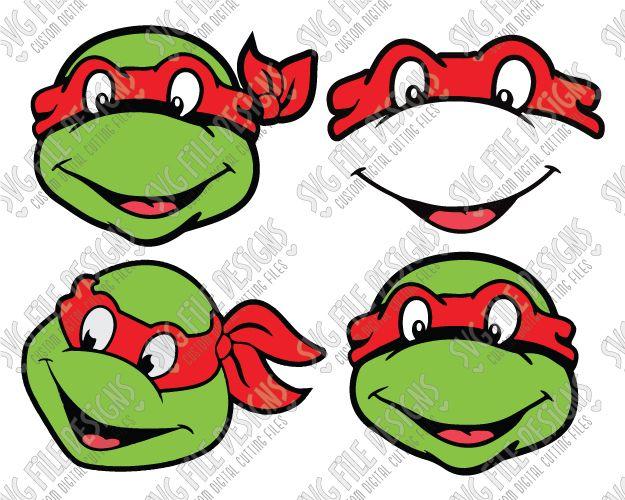 Teenage Ninja Turtle Raphael SVG Cut File Set for Christmas ...