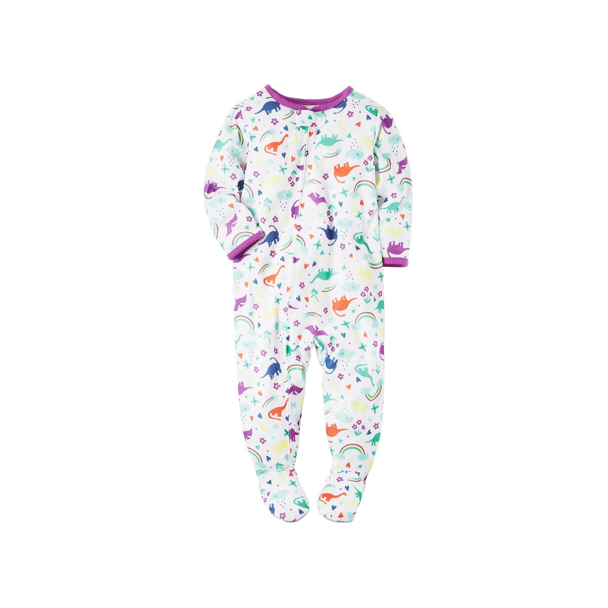a314858ca Baby Girl Carter s Printed Footed Pajamas