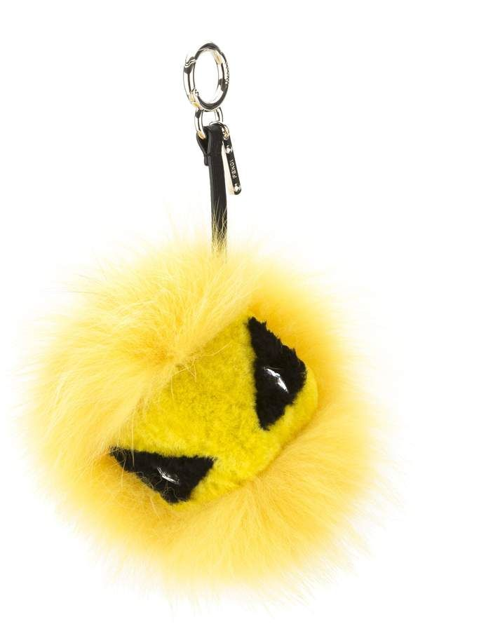 cca6950f4d0 Fendi Cedar Yellow Mixed Fur Eye Tria Key Charm (New with Tags) in ...
