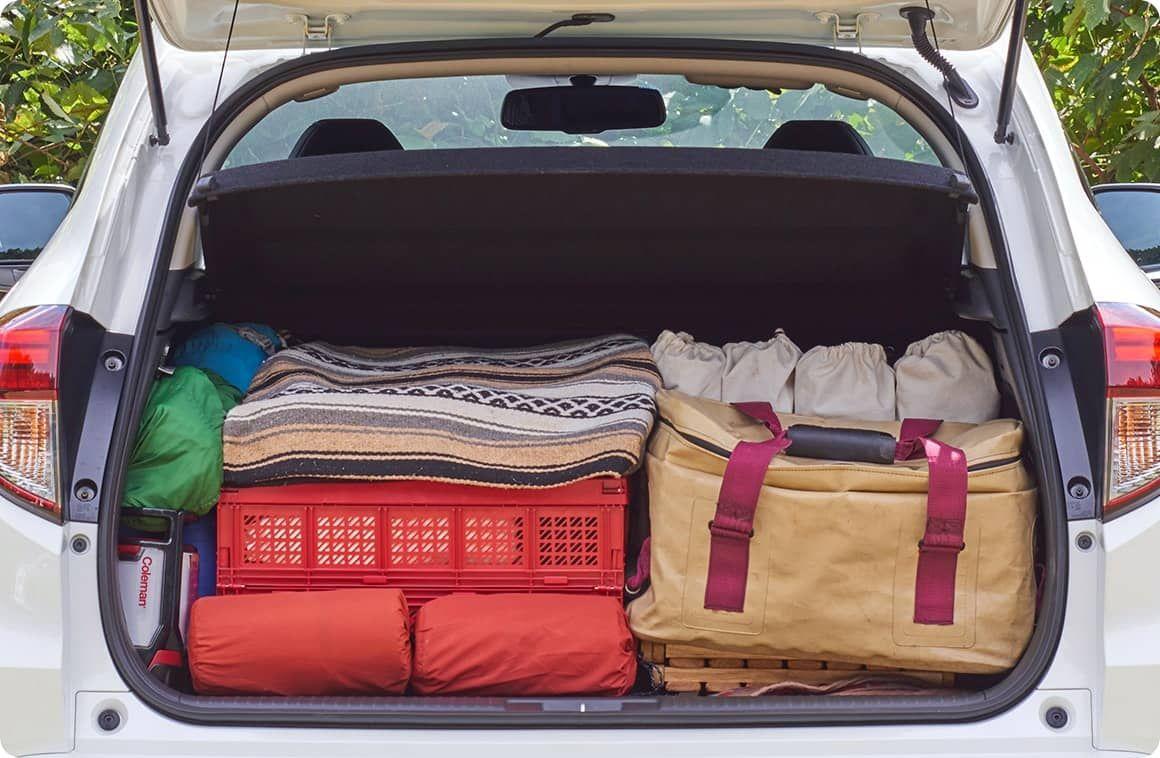 クルマ別 キャンプ道具の積み方 ヴェゼル 編 Hondaキャンプ ヴェゼル キャンプ 荷物 キャンプ