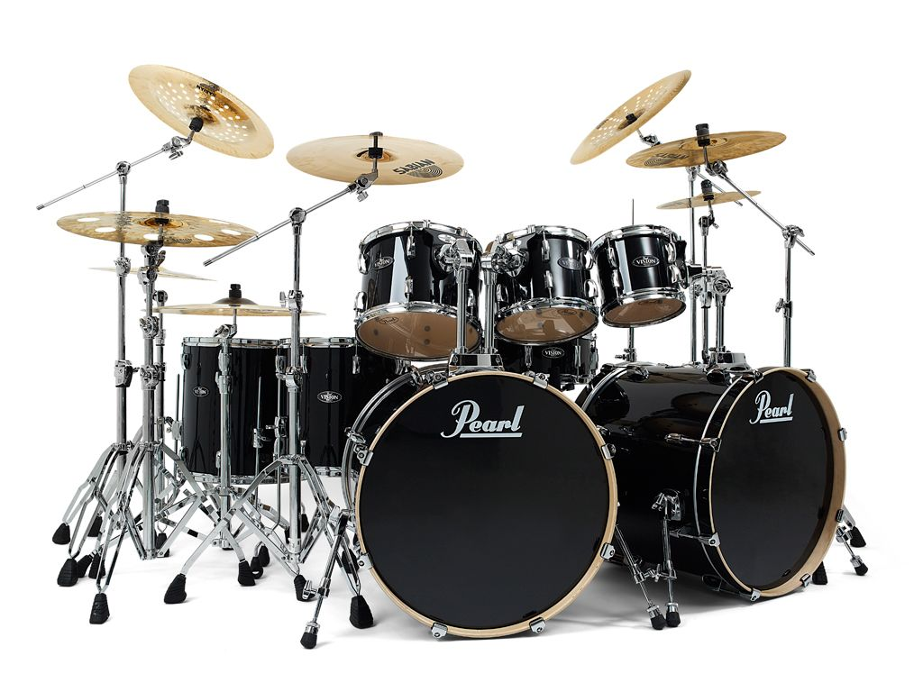 pearl double bass black big bad double bass drums