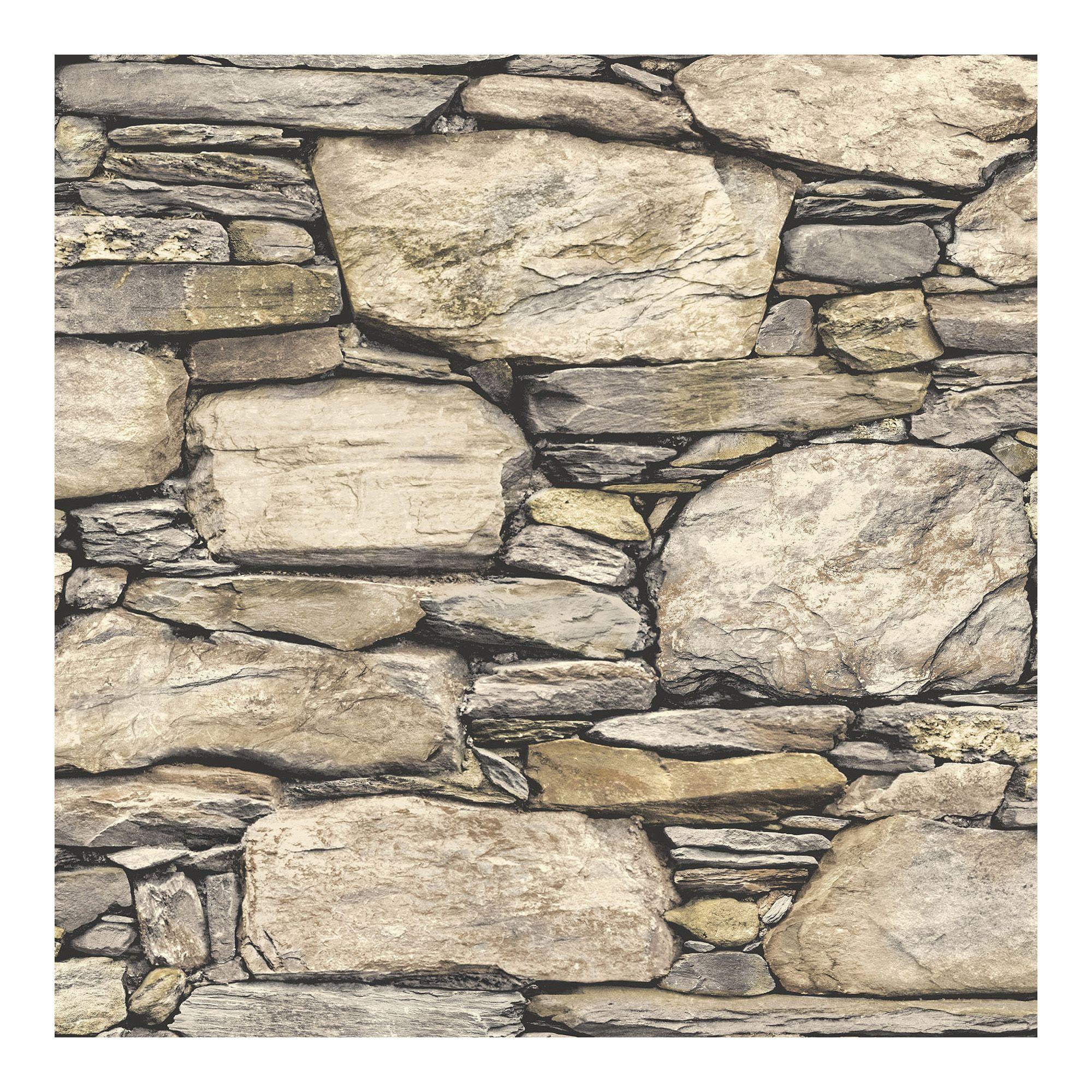 Nuwallpaper Hadrian Stone Wall Peel Stick Wallpaper Walmart Com Stone Wallpaper Grey Stone Wall Nuwallpaper