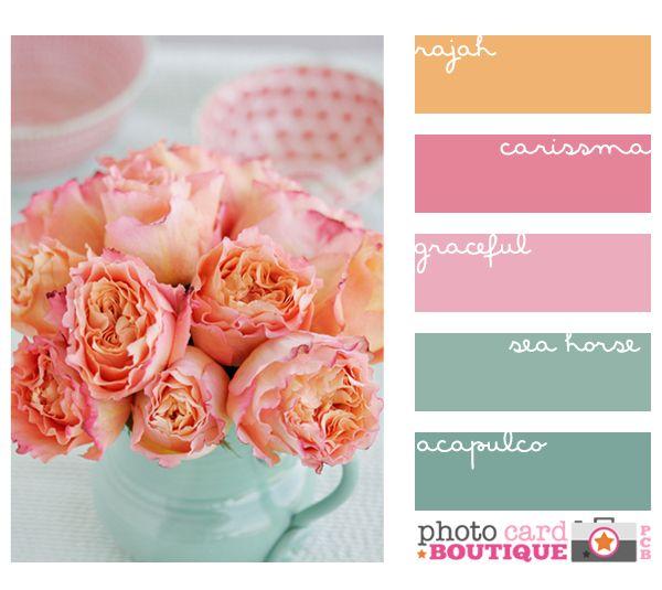 Mint Wandfarbe: Pink Floral Hues Color Combo