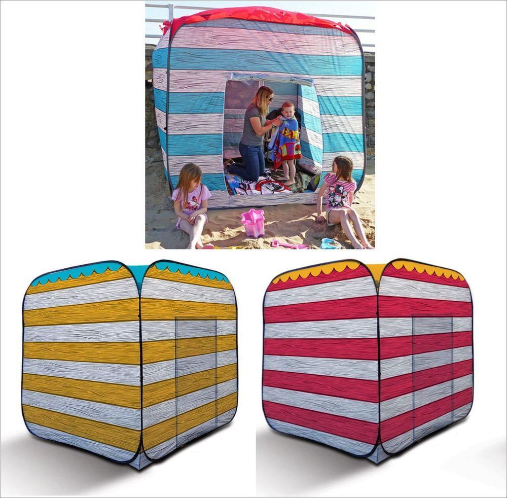 Carpentero Beach Huts Camping: OL:PRO Pop Up Quick Erect Portable Beach Hut Picnic Tent