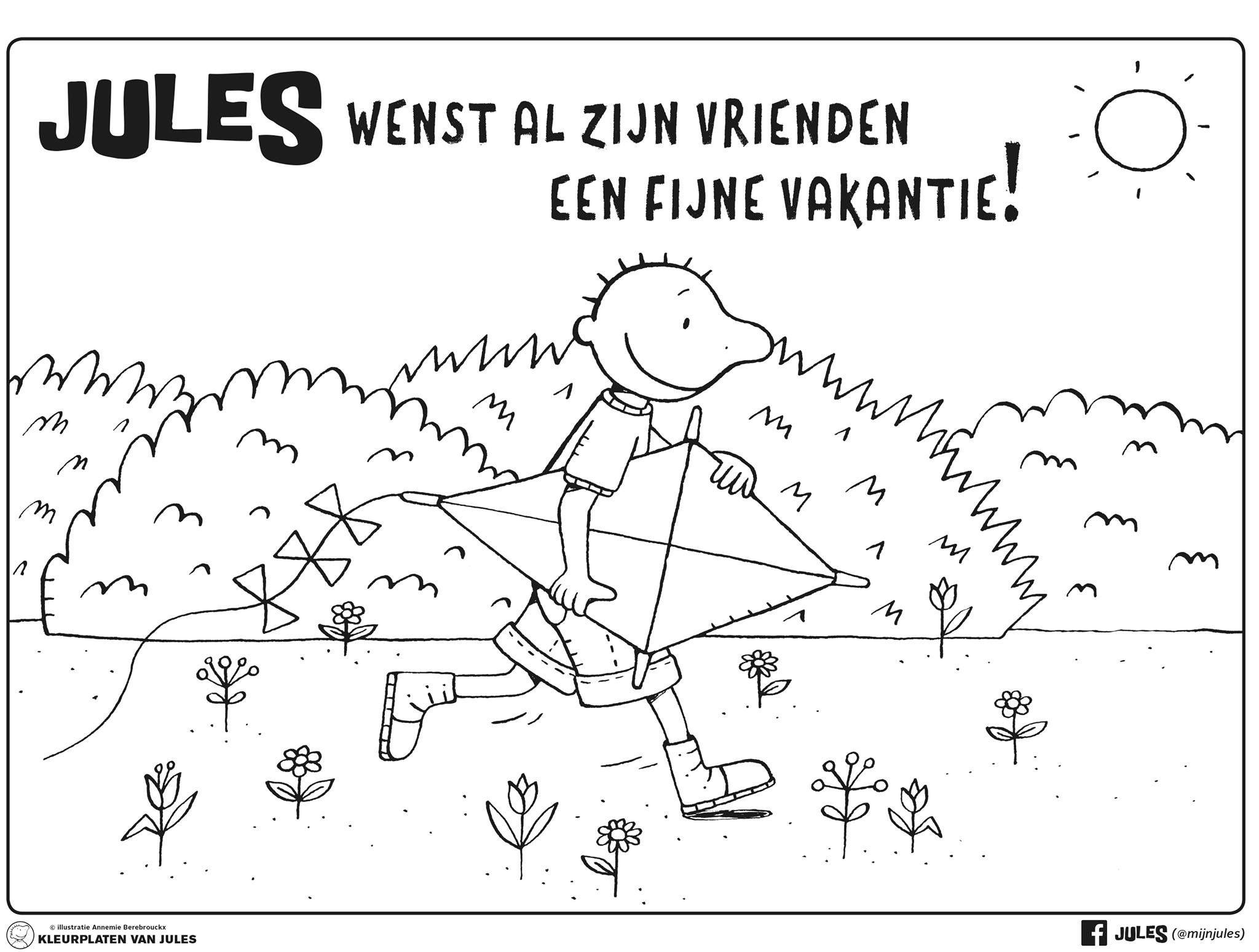 Pin Van Petra Vanlaer Op Prenten Jules Vakantie Zomer Thema
