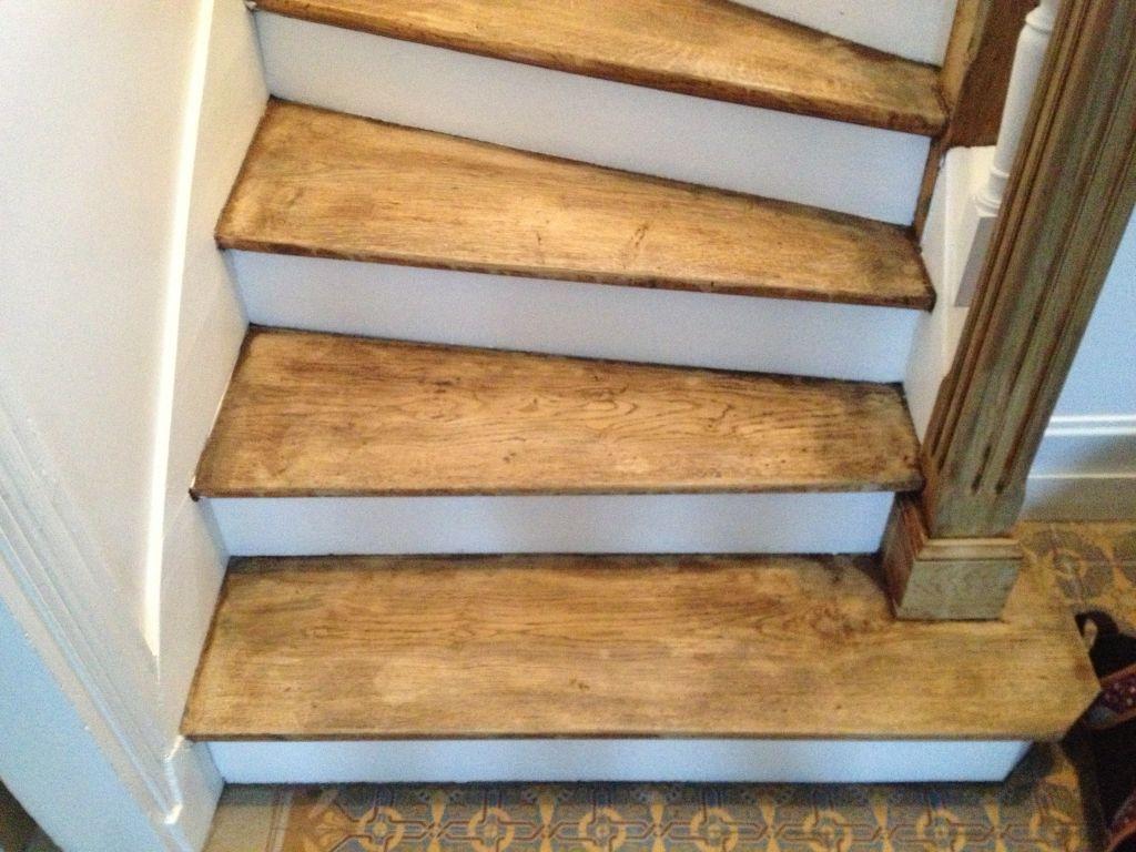 Escalier Val D Oise escalier en chêne blanchi - rénovation de notre maison en