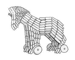 How to Make a Trojan Horse Out of Popsicle Sticks   Human