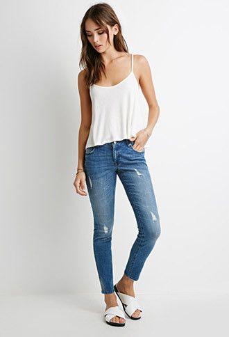 ae0542dfd7b Low-Rise Distressed Skinny Jeans | johnson creek | Jeans, Skinny ...