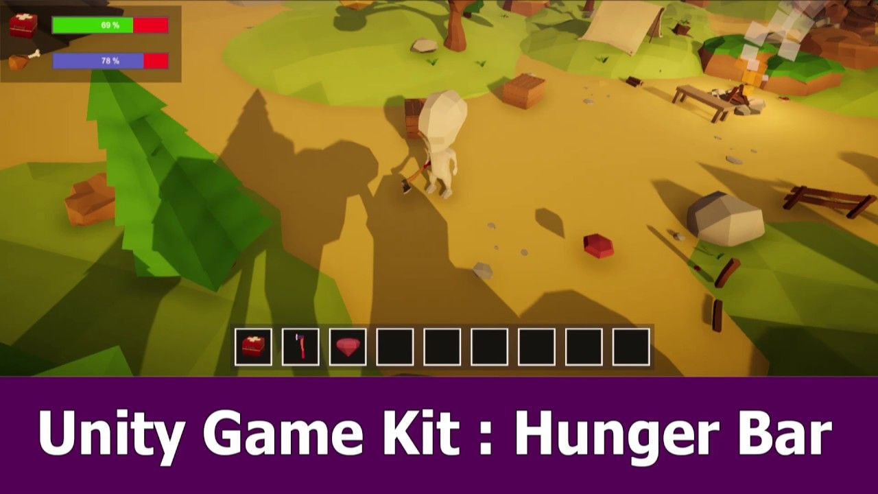 Unity Hunger Bar C# Script | Game Development in 2019