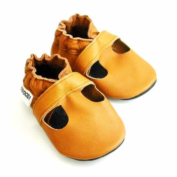02294fe8622a1 Baby Shoes Dark Brown, Ebooba, Chocolate Leather Soft Sole Baby ...