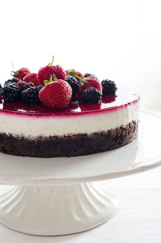 Schoko Quarkcreme Torte Mit Beeren Pi Mal Butter Foodblog