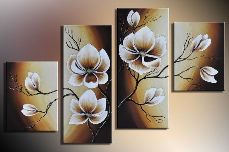 Handgemalte Bilder Kaufen designbild blumen weiß abstrakt 8 handgemalt bild acryl wandbild