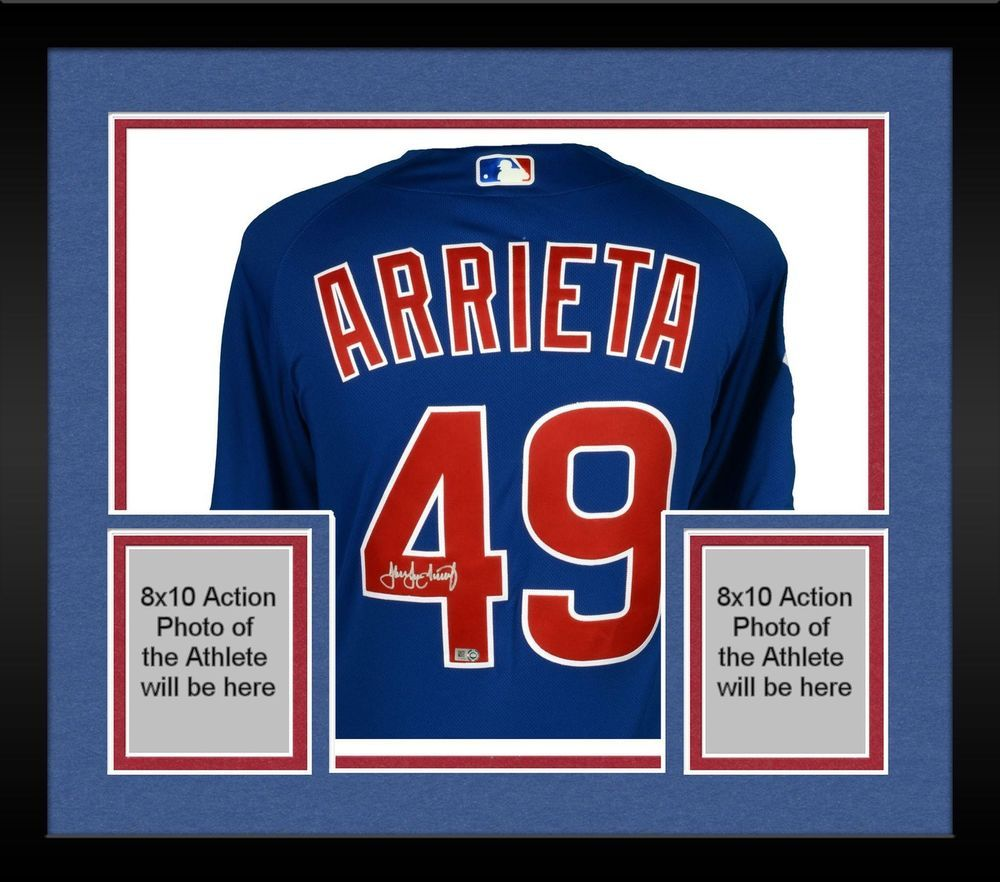 2adaaaf1c Framed Jake Arrieta Chicago Cubs Autographed Majestic Blue Authentic Jersey