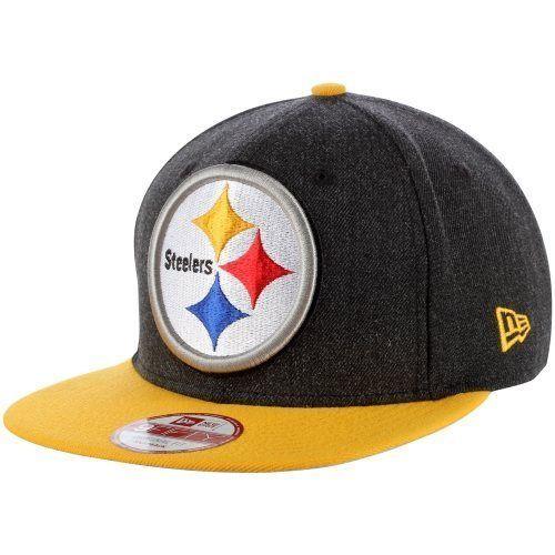 Men s New Era Black Pittsburgh Steelers Logo Grand 9FIFTY Adjustable Hat   NewEra  PittsburghSteelers c9c63877d