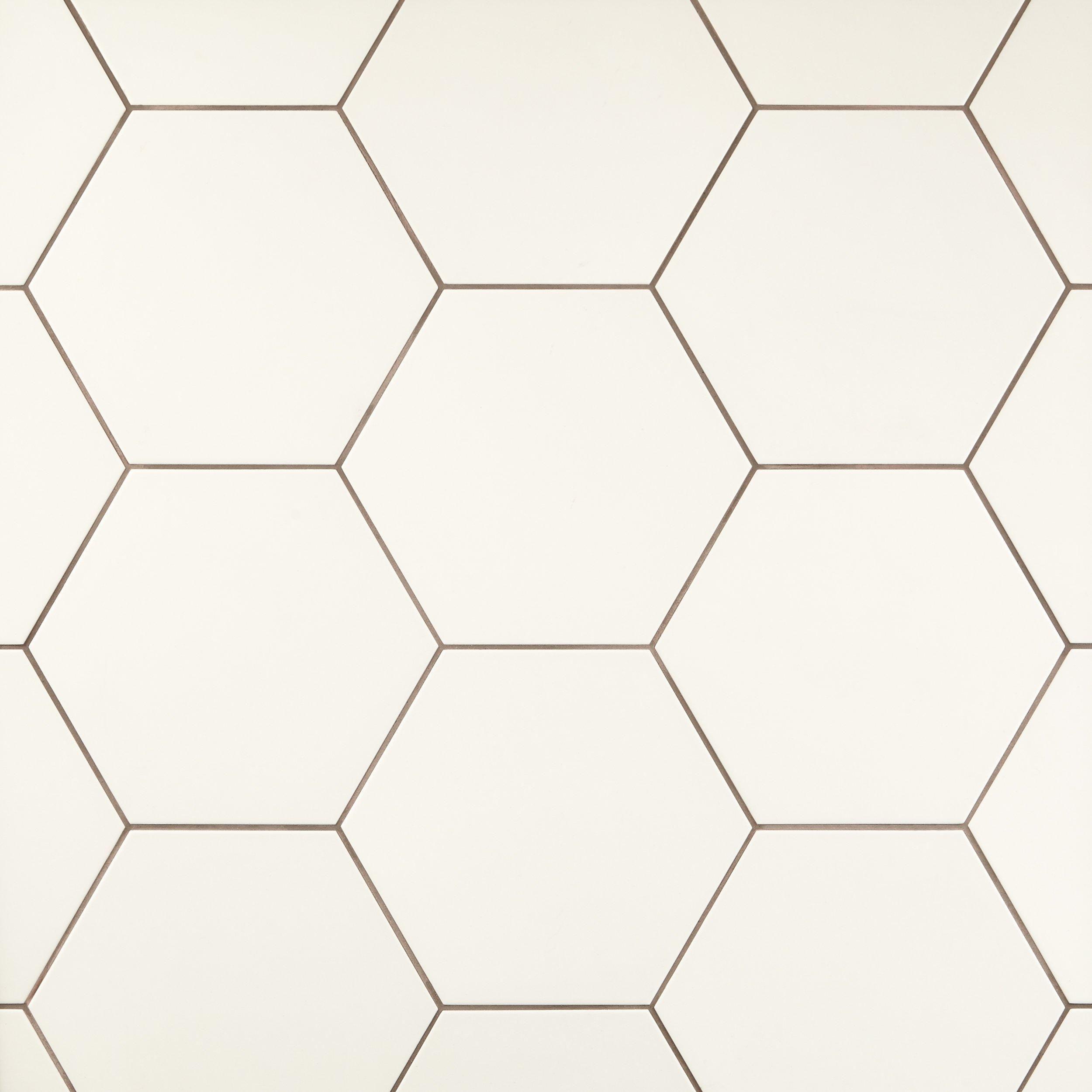 Opal White Hexagon Porcelain Tile In 2019